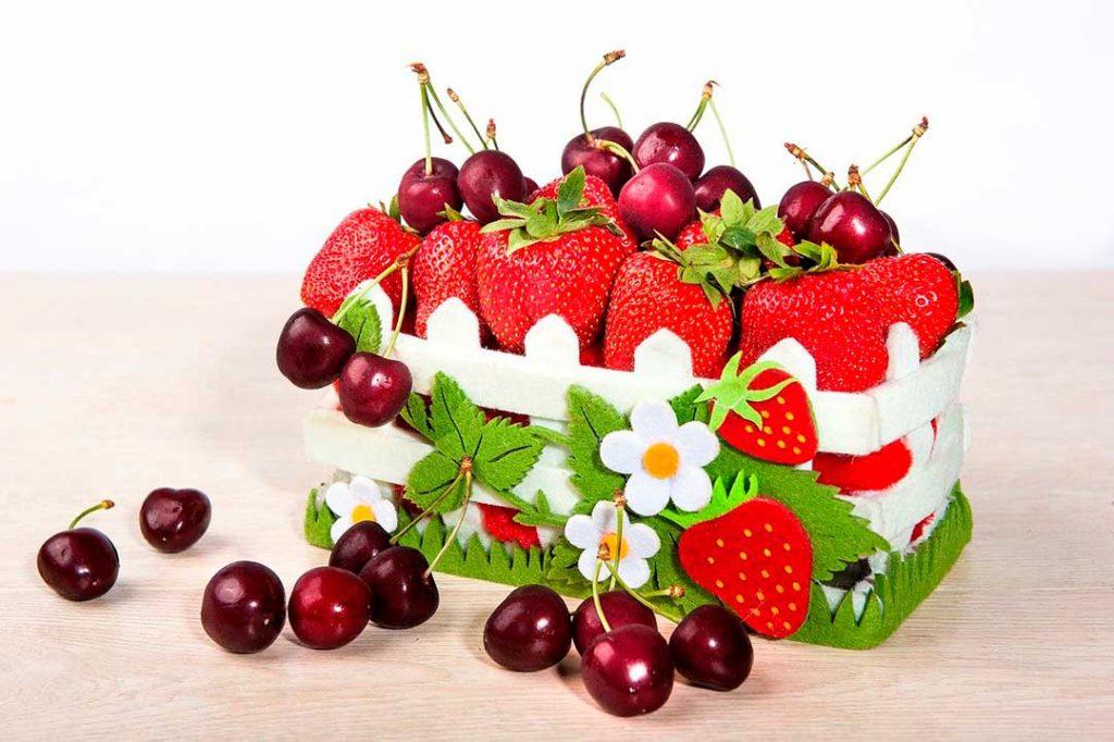 Frutas de temporada de primavera