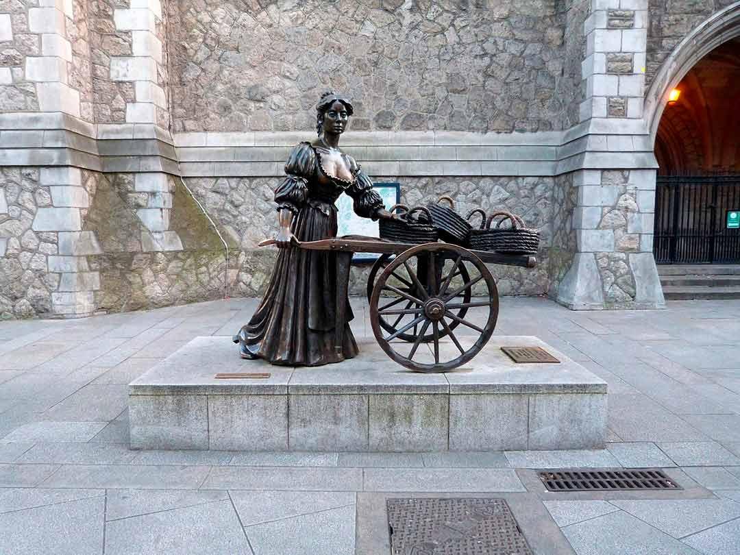 Estatua de Molly Mallon en Dublin