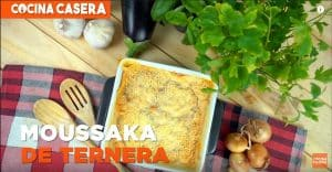 Moussaka de ternera