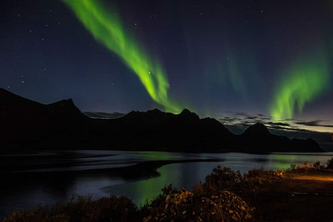 Aurora Boreal en Husoy