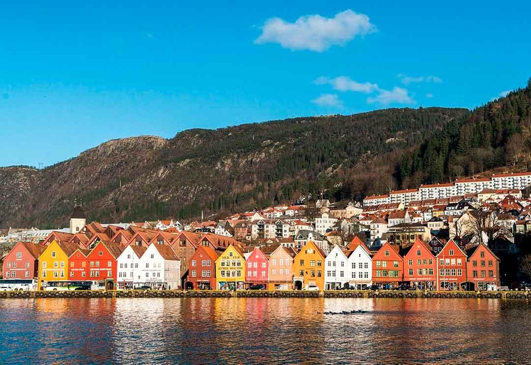 Ciudad de Bergen en Noruega