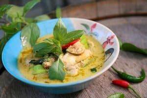 Curry verde típico de la comida tailandesa