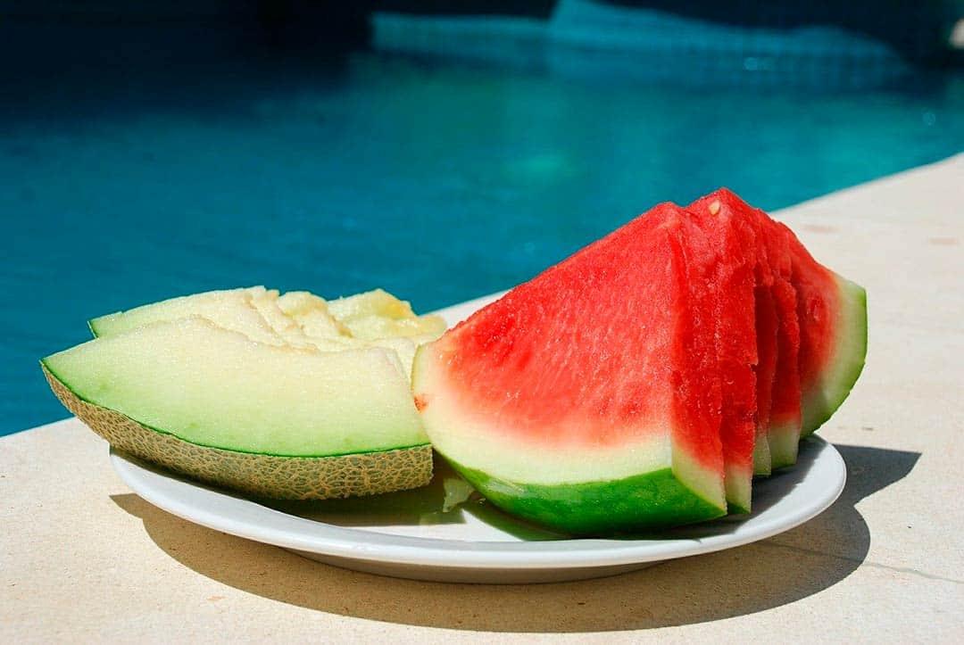 Melón y sandía, frutas de temporada de verano