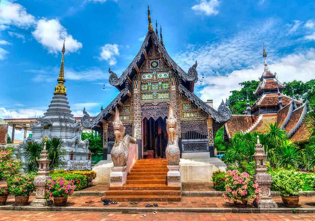 Templo en Chiang Mai, Tailandia