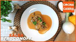 Salsa Strogonoff con carne de ternera