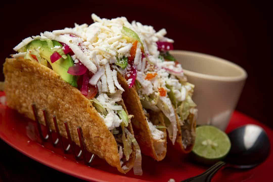 Tacos plato típico de la gastronomía de México